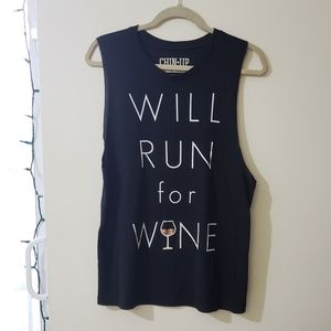 *3 for $10 tanks* Will Run For Wine